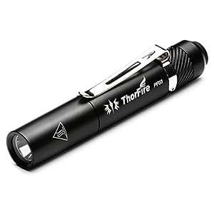 ThorFire PF03 Torcia Led Elettrica a Penna Tascabile Impermeabile IPX8 Luminosità massima di 110 lumen Usando 1xAAA Batteria (esclusa) Buoni regali di Natale ecc