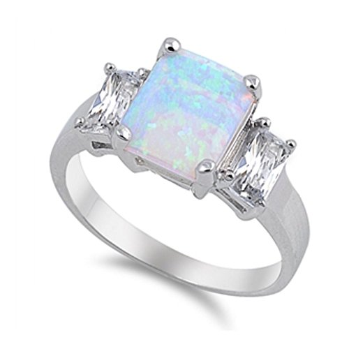 Royal Design Ring aus Sterlingsilber mit Lab Opal (Gold-ohrringe Kinder-24k)