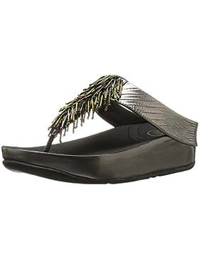 FitFlop Damen Cha Offene Sandalen mit Keilabsatz