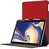 Forefront Cases Samsung Galaxy Tab S4 10.5 Hülle | S-Pen Stifthalter | Magnetische Galaxy Tab S4 10.5 Zoll Tablet-PC SM-T830/T835 Cover | Automatische Schlaf Wach Funktion Dünn Leicht | Rot