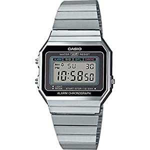 Casio Damen-Uhren Digital Quarz Edelstahl 32010340