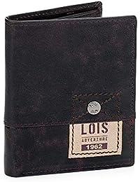 ab9334d4f Lois - 12520 Cartera Monedero Billetero Tarjetero de Hombre de Piel  Genuina. Vertical. Portamonedas