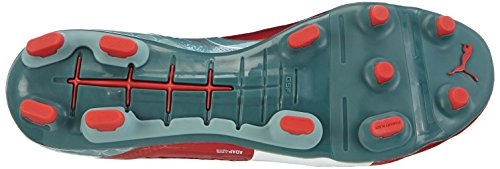 Puma Evopower 1.2 Graphic Fg, Chaussures de football homme Rouge - Rot (high risk red-white-sea pine 01)