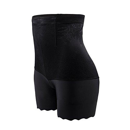 ZUIMIMI Damen figurenformend Miederpants Miederhose Shapewear Bauch Kontrolle Unterwäsche body shape nahtlose boyshort (Boyshort Aus Seide)