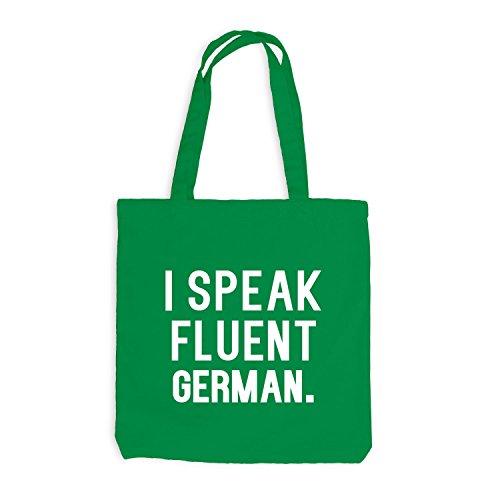 Sacchetto Di Juta - Parlo Fluentemente Tedesco - Lingua Tedesco Kelly Green