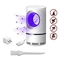 SYWAN Photocatalytic Mosquito Killer,USB Powered Fly Mosquito Trap Lamp UV LED Bug Zapper Effective Indoor Trap for Kids Baby (1 Pack)