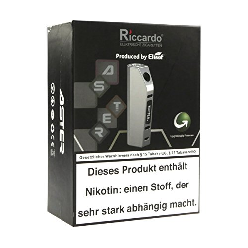 Eleaf Aster 75 Watt Box MOD, Riccardo e-Zigarette - Akkuträger, silber gebürstet