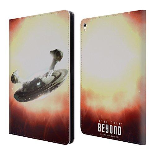Head Case Designs Offizielle Star Trek USS Franklin Poster Beyond XIII Brieftasche Handyhülle aus Leder für iPad Pro 9.7 (2016) (Design Franklin)