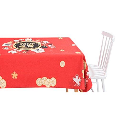 JIY-manteles Mantel de Lino de Algodón de Lucky Cotton Mantel de Algodón Pequeño Mantel de Escritorio Rectangular Mantel de café (Color : A, Tamaño : 85*85CM)