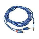 B Blesiya 1 Pieza Cable de Audio Jack Euipo de Música Macho Fácil de Usa Almacenaje de Datos Conveniente - 300cm