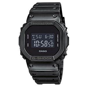 Casio DW-5600BB-1ER - Reloj digital de cuarzo para hombre con correa de resina, color negro de Casio