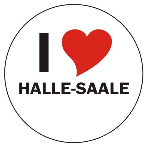 I Love HALLE-SAALE Handyaufkleber Handyskin 50x50 mm rund