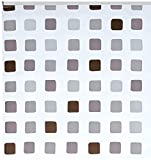 Kleine Wolke 3321110747 - Tenda da Doccia a Pannello per Binario, 128 x 240 cm, Motivo Quadretti, Colore Grigio