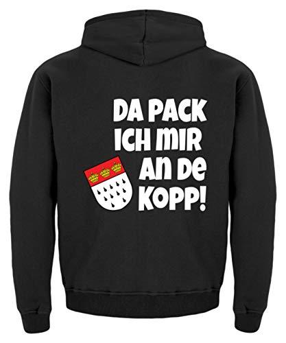 Kinder Jet Pack Kostüm - Köln - Da Pack Ich Mir An De Kopp! Karneval - Geschenk - Überraschung - Colonia - Alaaf - Kinder Hoodie -3/4 (98/104)-Jet Schwarz