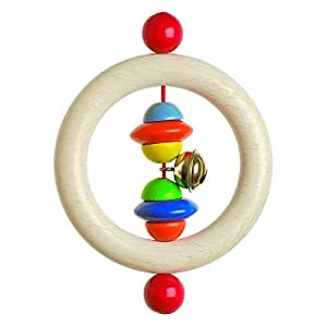 Heimess 733500 Wooden Ring Rattle (Beads and Discs)