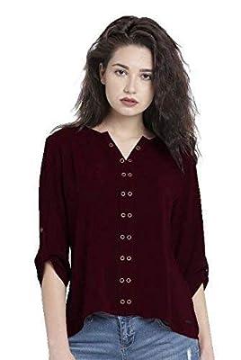 The Lugai Fashion Women's Cotton Cold Shoulder Tunic Short Top