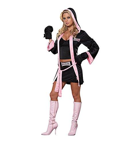 Boxer Kid Kostüm (Sexy Damen-Kostüm BOX CHAMPION Gr. S Boxerin Boxer)