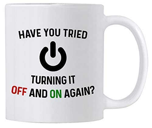 le magasin coût modéré diversifié dans l'emballage Have You Tried Turning It Off and On Again Mug 11 Ounce Coffee Mug. Funny  Novelty Computer Nerd Gifts. Gift Idea for Office or Geek Coworkers