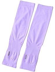 Bestgift Femme Manchettes Protection de bras solaire UV