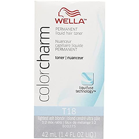 WELLA Color Charm Permanent Liquid Hair Toner T18 (Lightest AshBlonde)