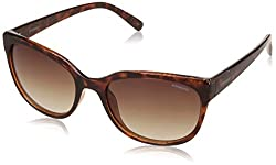 Polaroid Polarized Rectangular Womens Sunglasses - (PLD 4030/S Q3V 55LA|55|Brown Color)