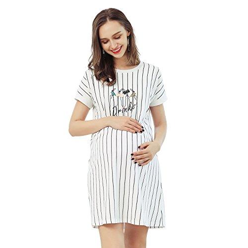 Joyncleon pigiami e camicia da notte premaman allattamento gravidanza gonna (m=it 46(pecho 98cm))