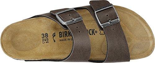 Birkenstock Unisex-Erwachsene Arizona Birko-Flor Pantoletten Pull UP Brown