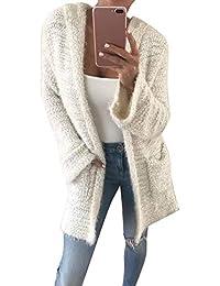 SEWORLD Sport Damen Mode Dicker Kapuzen Warme Bluse Herbst Solide Mit Kapuze Beiläufige Wollmantel Jacke Stich Öffnen Mantel Jacke Strickjacke