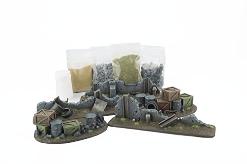 WWG War Torn City - Urban Battlefield & Basing Scenery Kit - 28mm Warhammer  Scenery 40K Necromunda Terrain