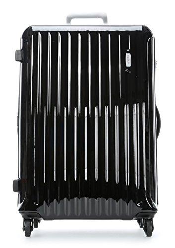 Bric's Riccione 30 Inch Ultra-light Large Spinner, Valise Mixte adulte, noir brillant (Noir) - BRE08032.001