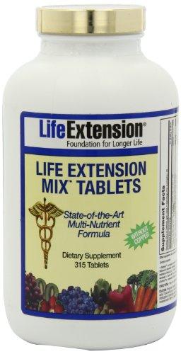 Life Extension, Mélange de comprimés de Life Extension, sans cuivre, 315 comprimés