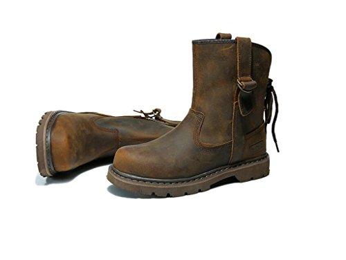 Lemontree Unisex Herren Damen Winter Leder Boots 324 Braun