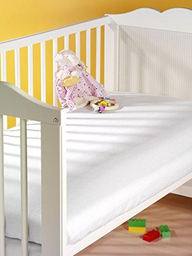 SETEX Wasserdichter Molton Matratzenschutz für Kinderbetten, 70 x 140 cm, Junior, Weiß, 14U1070140400002