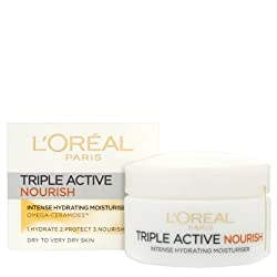 Loreal Triple Action Nourish Intense Hydrating Moisturiser (Dry to Very Dry Skin) 50ml with Ayur Product in Combo