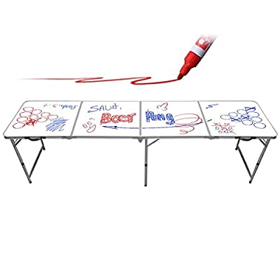 Table de Beer Pong White Board