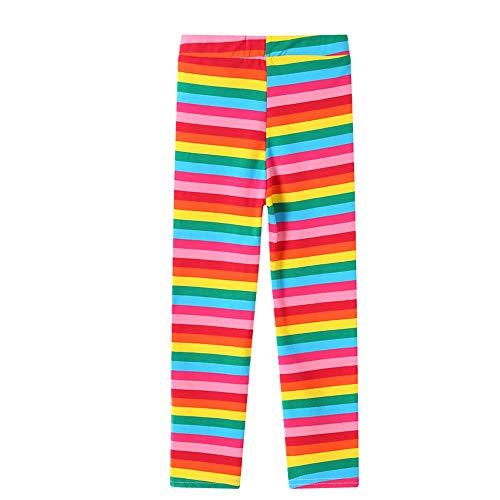 Lazzon Mädchen Leggins Kinder Baumwolle Hosen Strumpfhose 92-128 (122-128/7-8 Jahre, Regenbogen)