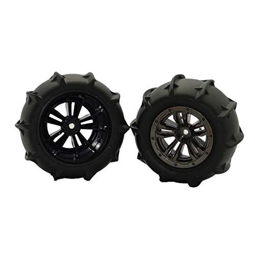 Javpoo Alta Qualità !! 2 pezzi di ricambio ruote pneumatici pezzi di ricambio per auto RC XLH Q901 scala 1/16