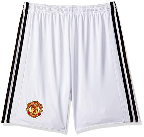 adidas Herren Manchester United Home 17/18 Shorts, White/Black, M Manchester United Fashion