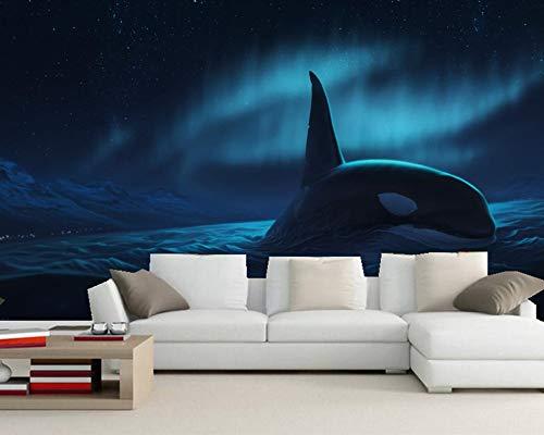 Keshj Orca Nachttiere Foto Nachtzeit 3D Wallpaper Für Wohnzimmer Tv Wand Schlafzimmer Küche Tapeten Wohnkultur-120cmx100cm -
