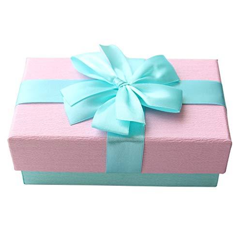 Rechteckige rosa Geschenkbox verstärkt Karton Material Seide Bogen Dekoration Lippenstift Parfüm Schmuck Verpackung Box