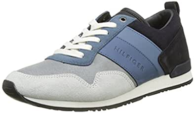 b410cdad5743 Tommy Hilfiger Iconic Color Mix Runner Sneakers Basses Homme Bleu ...