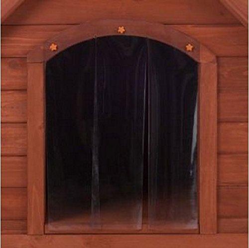 Doppelwandige Hundehütte aus Holz, Schutz vor Hitze und Kälte über das ganze Jahr, ideal für Hunde, die im Freien leben - 4