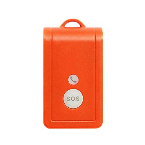 GEXING Téléavertisseur Sans Fil Patient D'urgence D'une Seule Touche SOS Téléphone Mobile APP De Positionnement D'alarme à Distance Sonnette,Orange