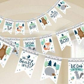 Amscan International- Cinta decorativa, Color banner pennant bear-ly wait (122164)
