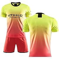 YANDDN Camiseta de fútbol 19-20KUNAGUERO10# DEBRUYNE17# SILVA21# La Segunda Camiseta de fútbol visitante, Que se Puede Personalizar para los fanáticos