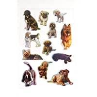 Puppy Dog Stickers - Kids / Childrens Labels for party bags , scrap books , card making or notebook decoration