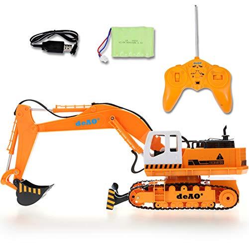 RC Auto kaufen Baufahrzeug Bild 5: deAO 6 Kanal Fernsteuerung Baubagger Bagger Bulldozer Truck mit Licht und Sounds*