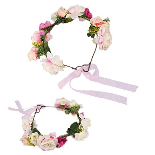 ma Baby Eltern Kind Blume Haar Band Stirnband Foto Requisiten - Rot (Blume Hairband)
