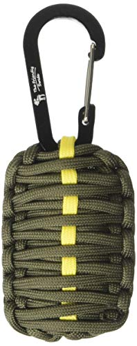 The Friendly Swede Kit di Sopravvivenza Grenade con Moschettone (Verde militare con linea gialla)