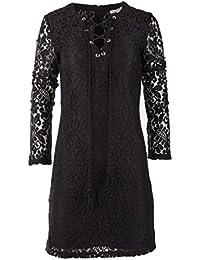 fcbabc76ae9 Best Mountain Robe en Dentelle Manches Longues Femme 40 Noir